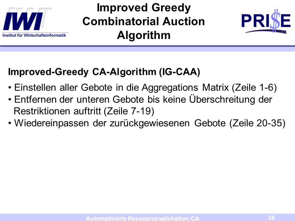 Improved Greedy Combinatorial Auction Algorithm