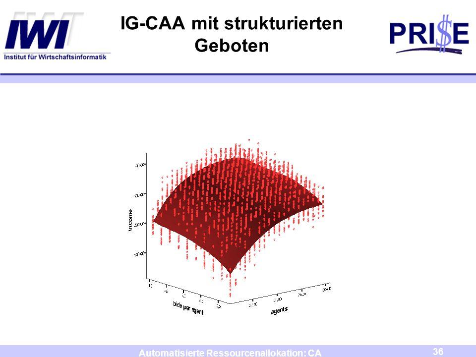 IG-CAA mit strukturierten Geboten