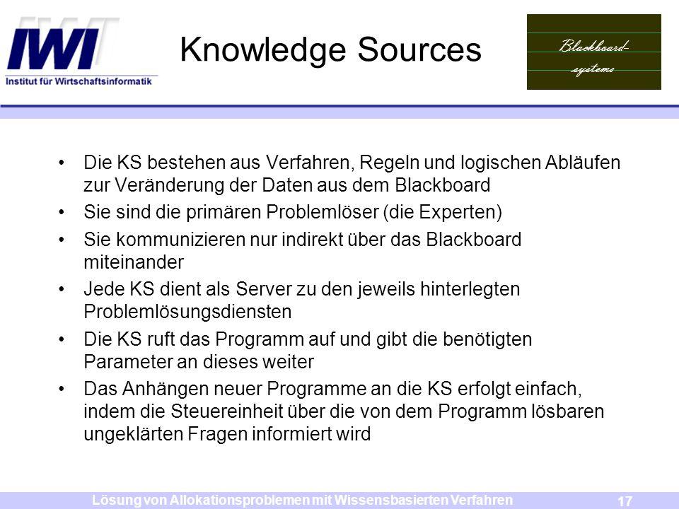 Lösung von Allokationsproblemen mit Wissensbasierten Verfahren