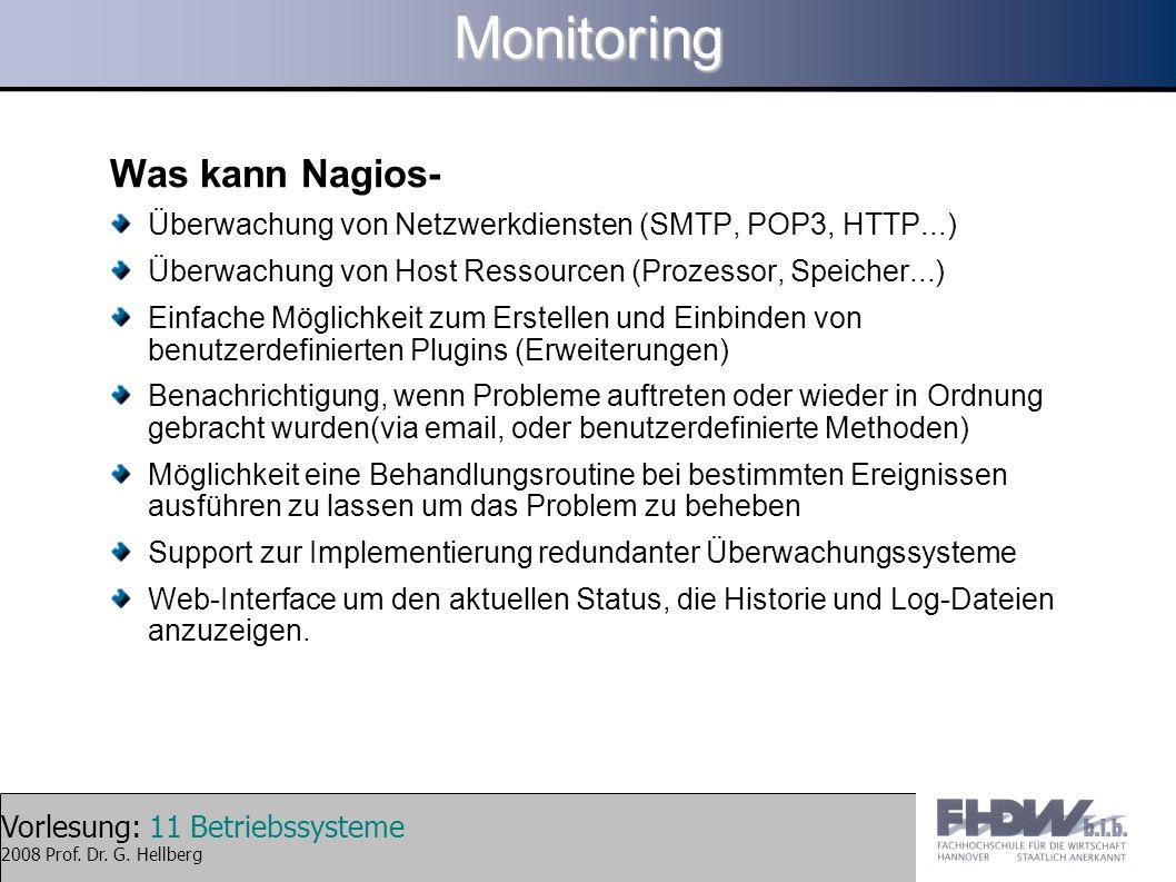 Monitoring Was kann Nagios-