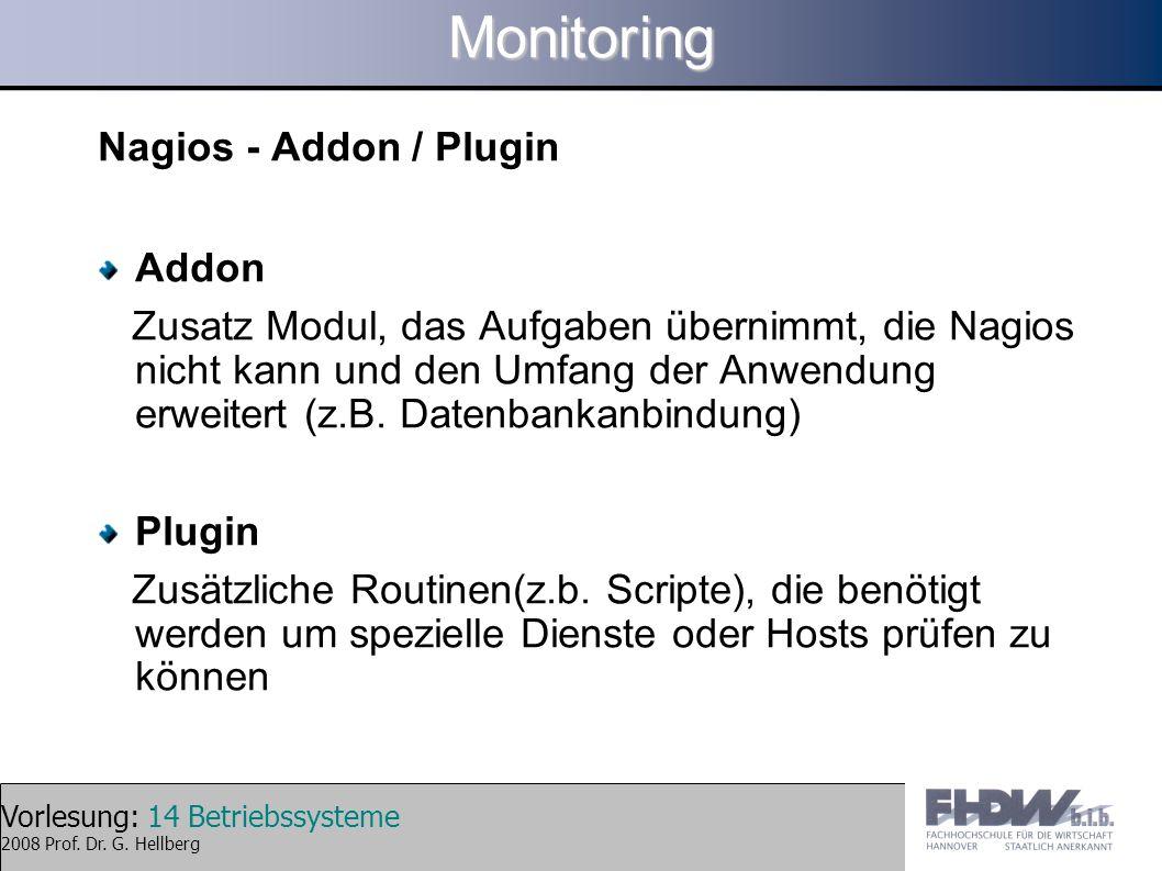 Monitoring Nagios - Addon / Plugin Addon