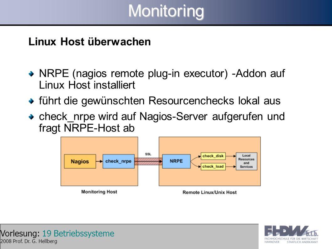 Monitoring Linux Host überwachen