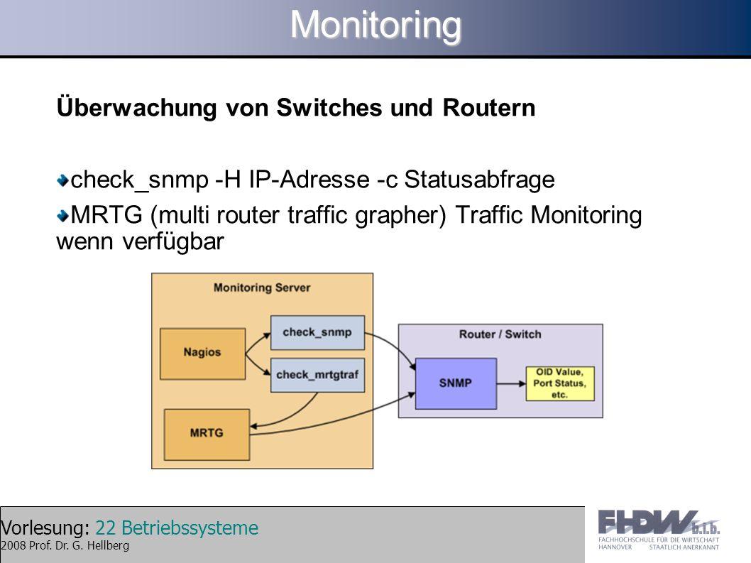 Monitoring Überwachung von Switches und Routern