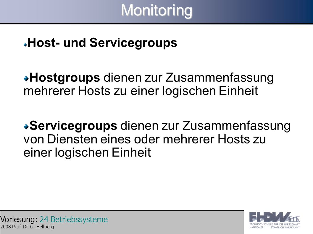 Monitoring Host- und Servicegroups