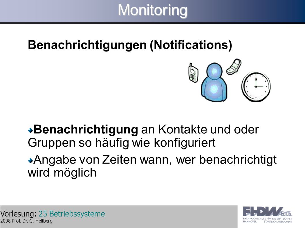 Monitoring Benachrichtigungen (Notifications)‏