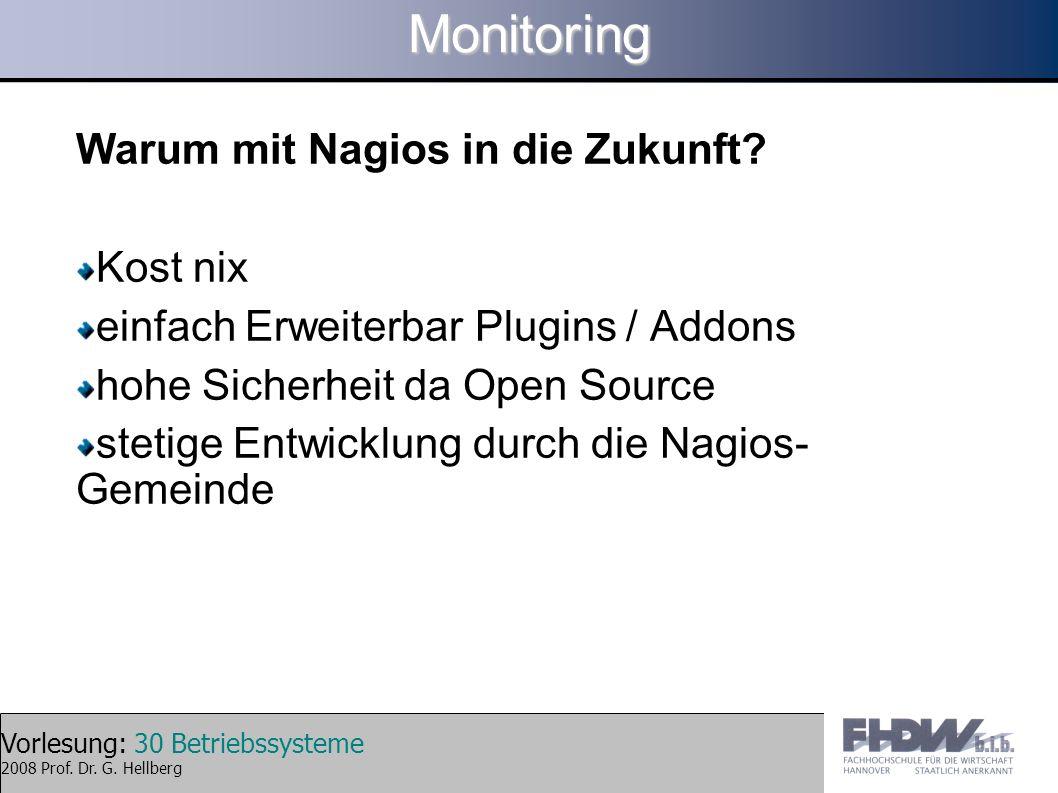 Monitoring Warum mit Nagios in die Zukunft Kost nix