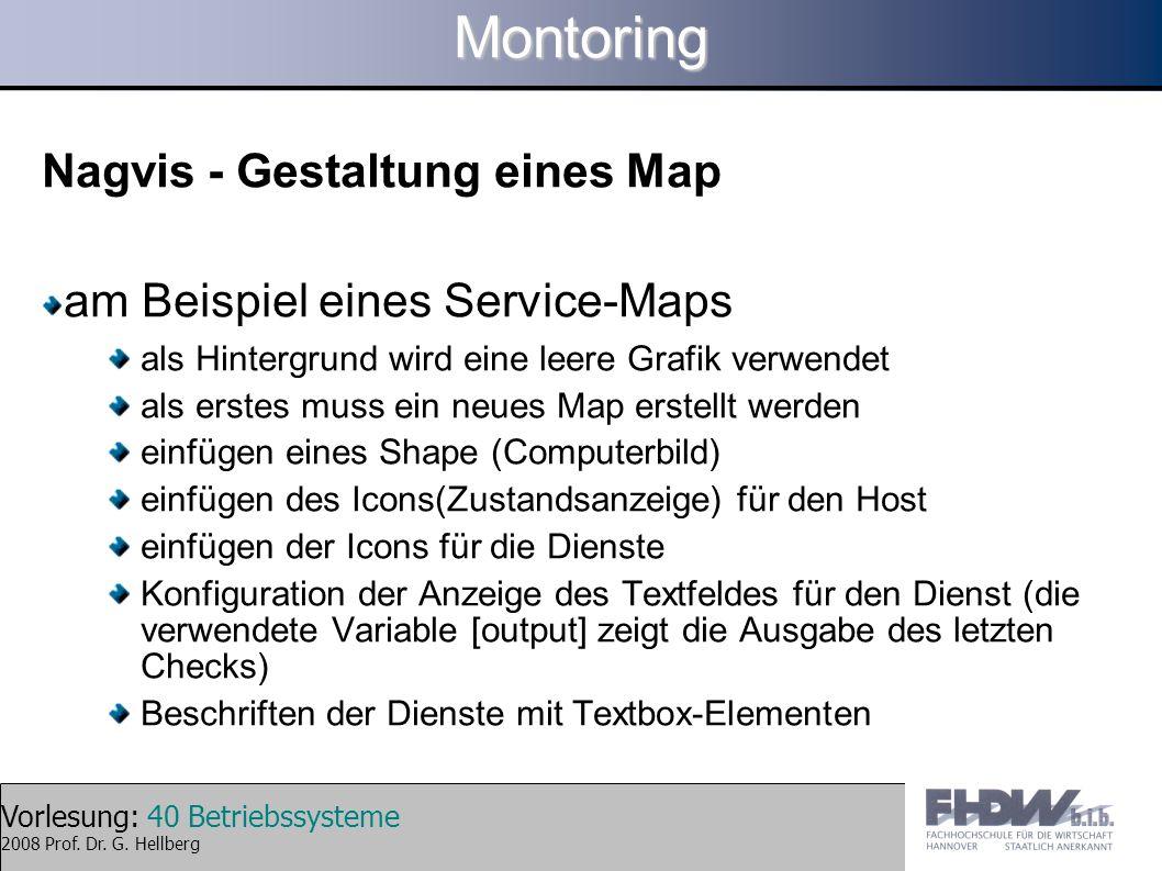 Montoring Nagvis - Gestaltung eines Map am Beispiel eines Service-Maps