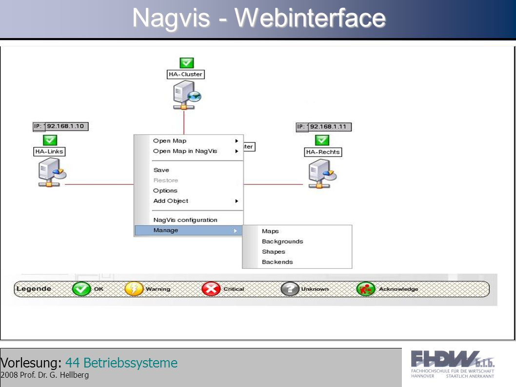 Nagvis - Webinterface
