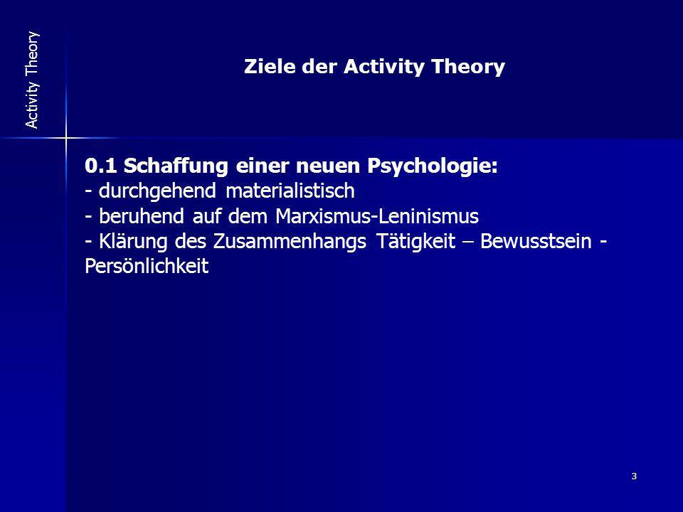 Ziele der Activity Theory