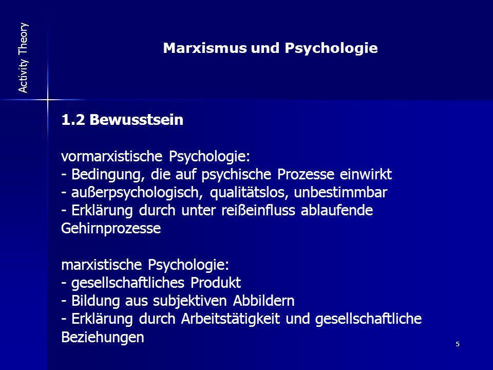 Marxismus und Psychologie
