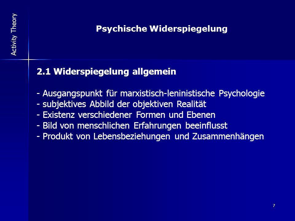 Psychische Widerspiegelung