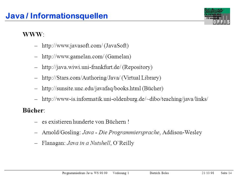 Java / Informationsquellen