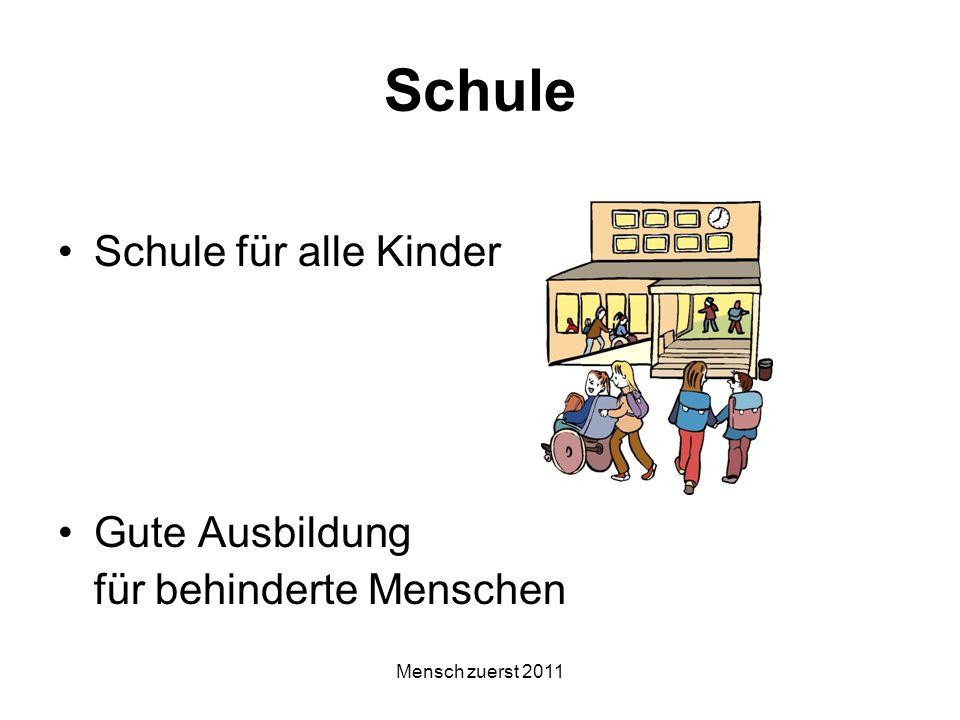 Schule Schule für alle Kinder Gute Ausbildung für behinderte Menschen