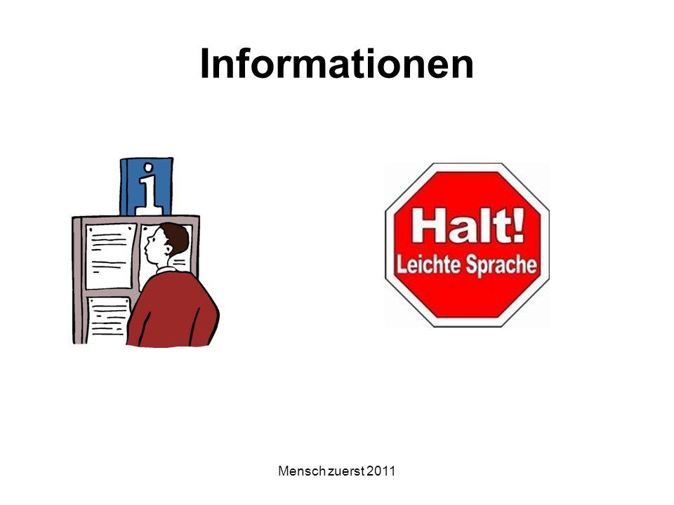 Informationen Mensch zuerst 2011