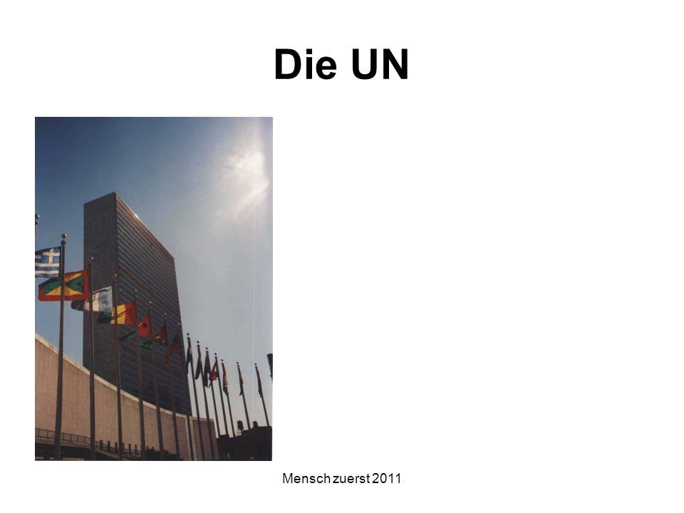 Die UN Mensch zuerst 2011