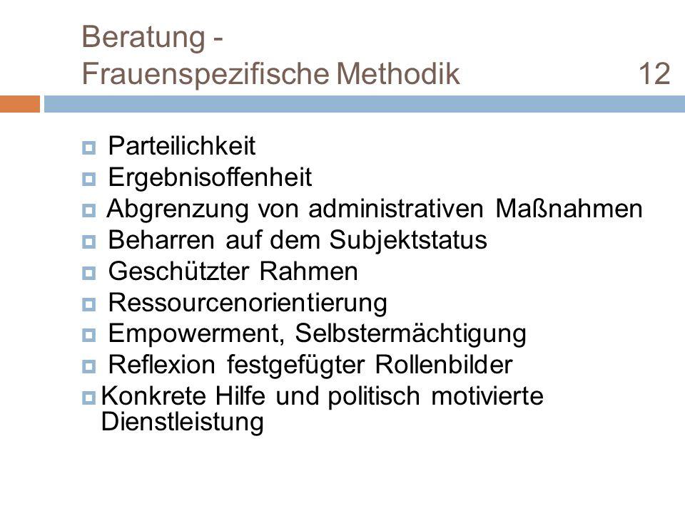 Beratung - Frauenspezifische Methodik 12
