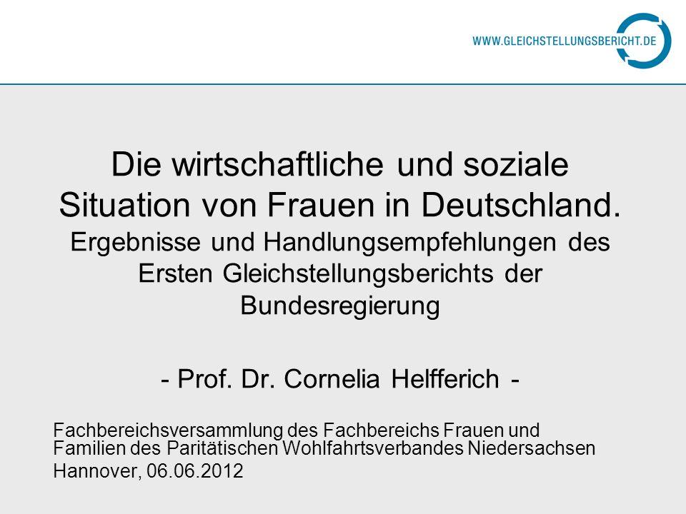 Die wirtschaftliche und soziale Situation von Frauen in Deutschland