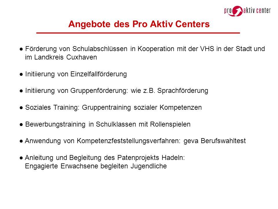Angebote des Pro Aktiv Centers