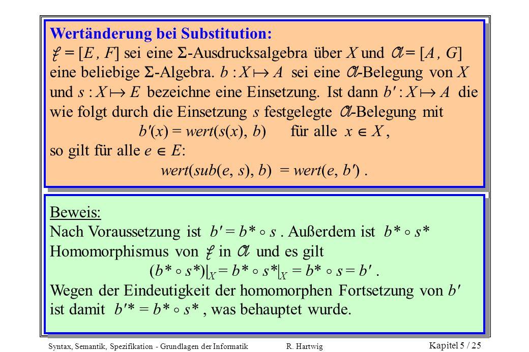 Wertänderung bei Substitution: