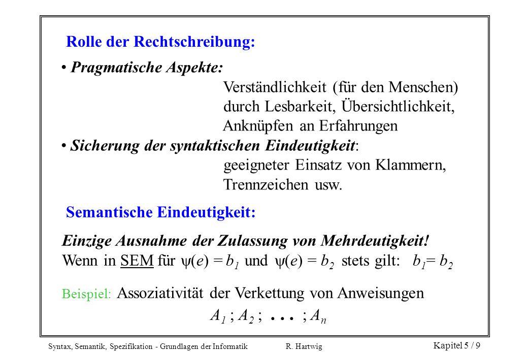 Rolle der Rechtschreibung: