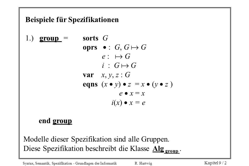 Beispiele für Spezifikationen