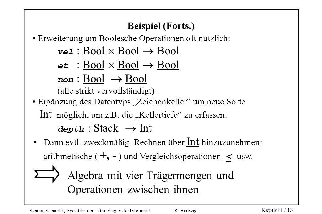 Algebra mit vier Trägermengen und Operationen zwischen ihnen