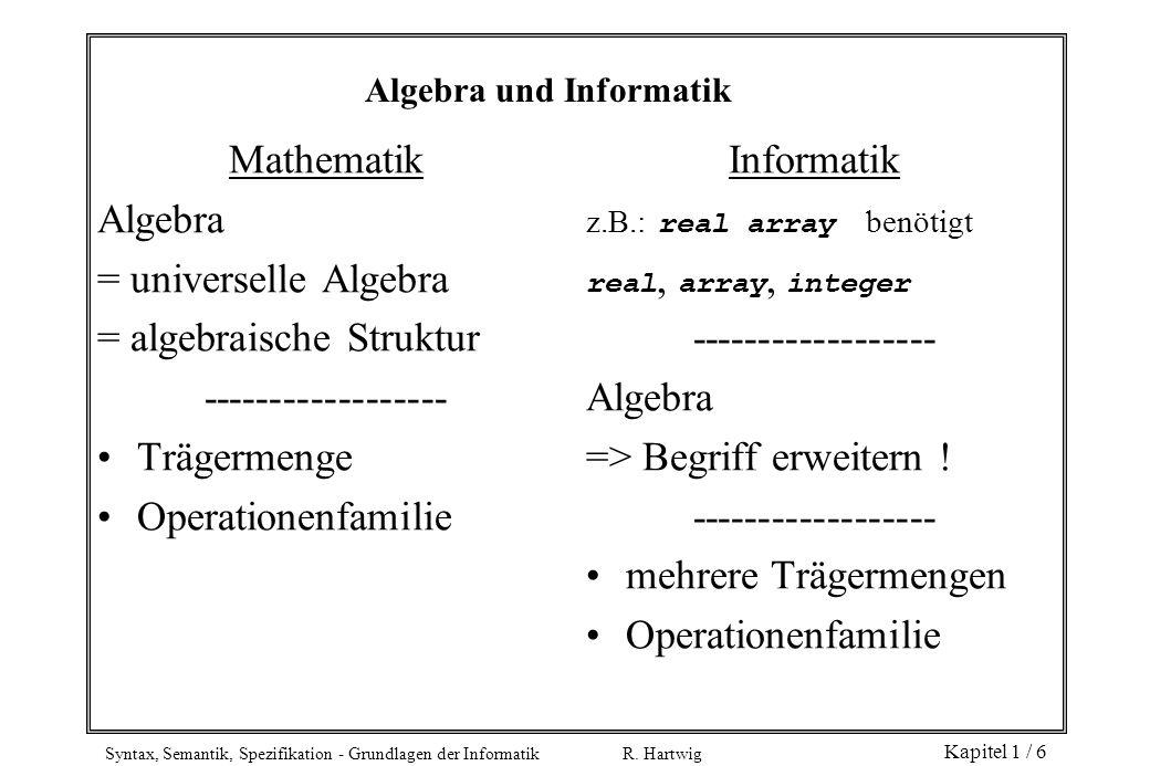 Algebra und Informatik