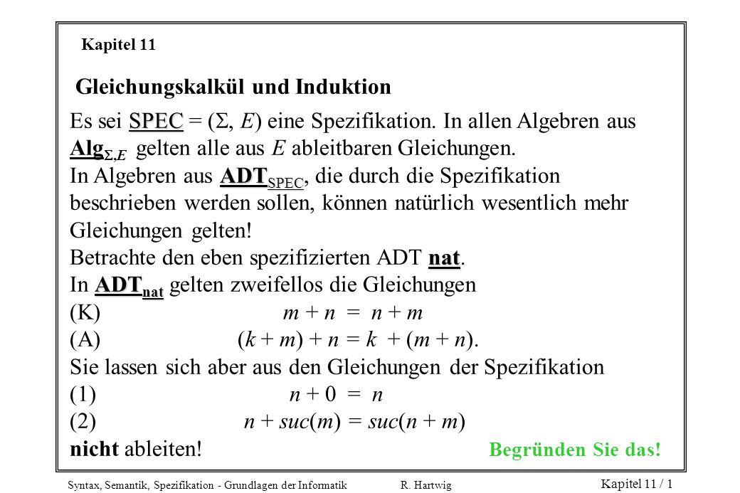 Gleichungskalkül und Induktion