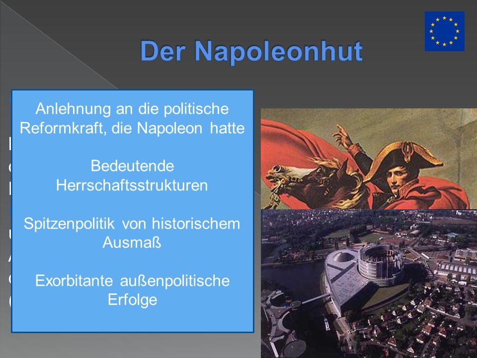 Der Napoleonhut Aus Vogelperspektive fügen sich Bogen und