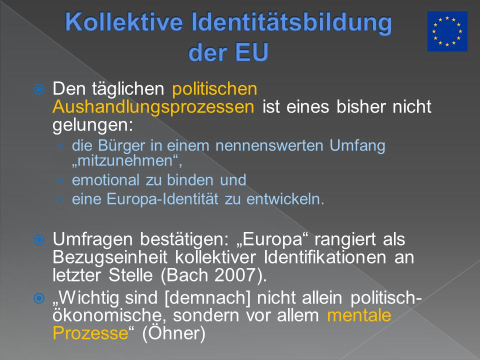 Kollektive Identitätsbildung der EU