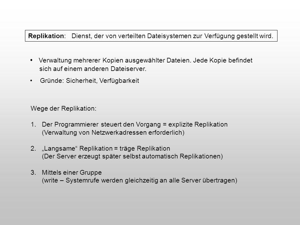 Verwaltung mehrerer Kopien ausgewählter Dateien. Jede Kopie befindet
