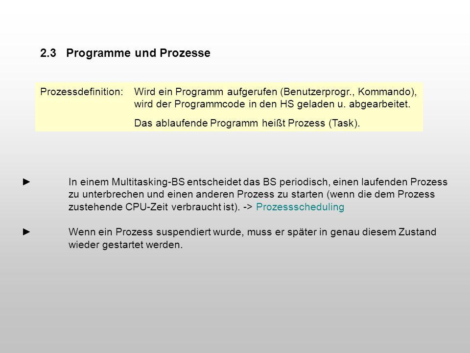 2.3 Programme und Prozesse
