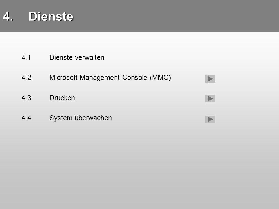 Dienste 4.1 Dienste verwalten 4.1 Dienste verwalten