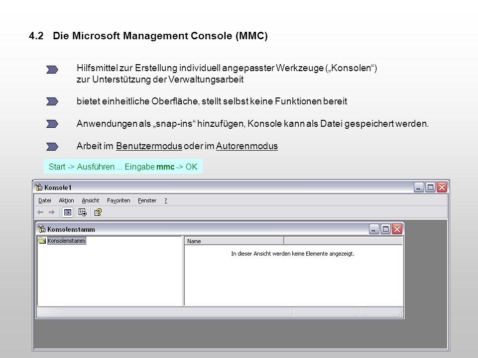 4.2 Die Microsoft Management Console (MMC)