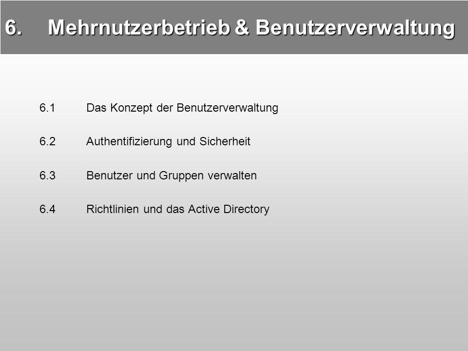 Mehrnutzerbetrieb & Benutzerverwaltung