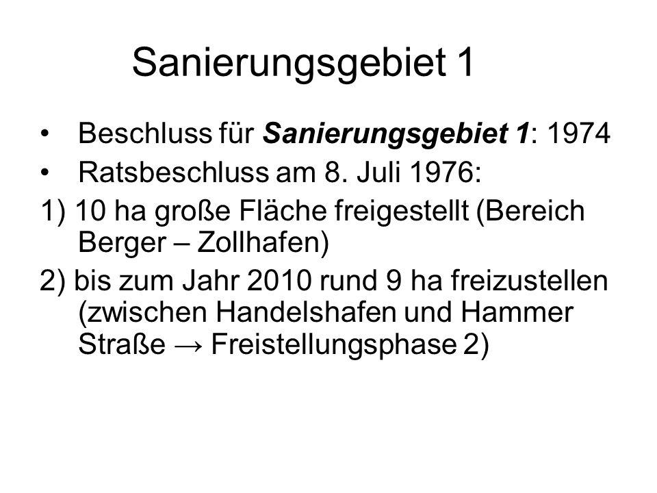 Sanierungsgebiet 1 Beschluss für Sanierungsgebiet 1: 1974