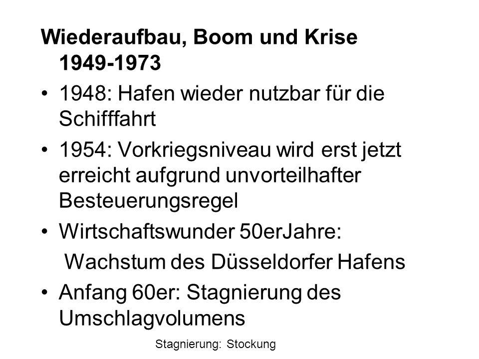 Wiederaufbau, Boom und Krise 1949-1973