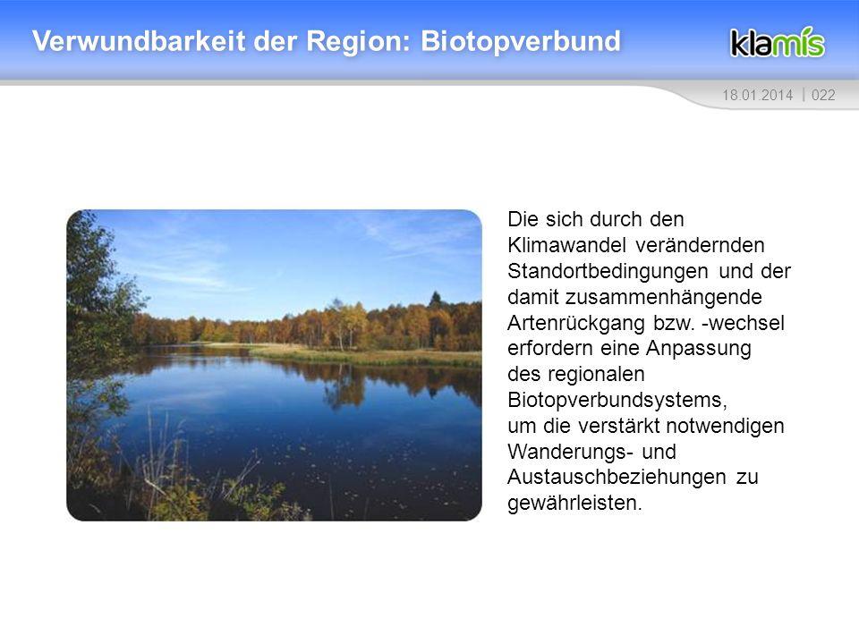 Verwundbarkeit der Region: Biotopverbund