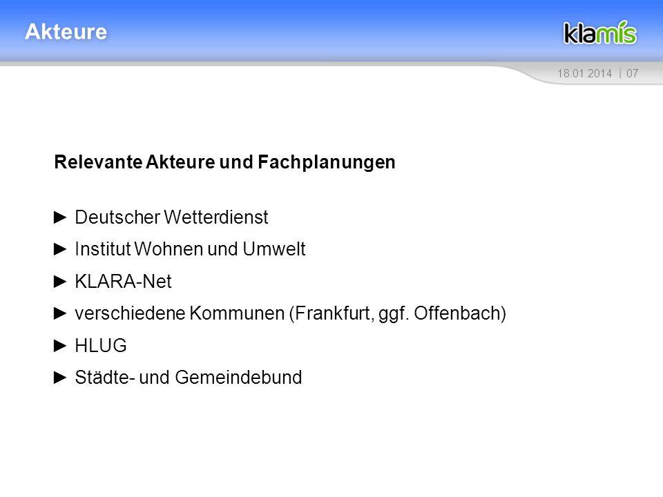 Akteure Relevante Akteure und Fachplanungen ► Deutscher Wetterdienst