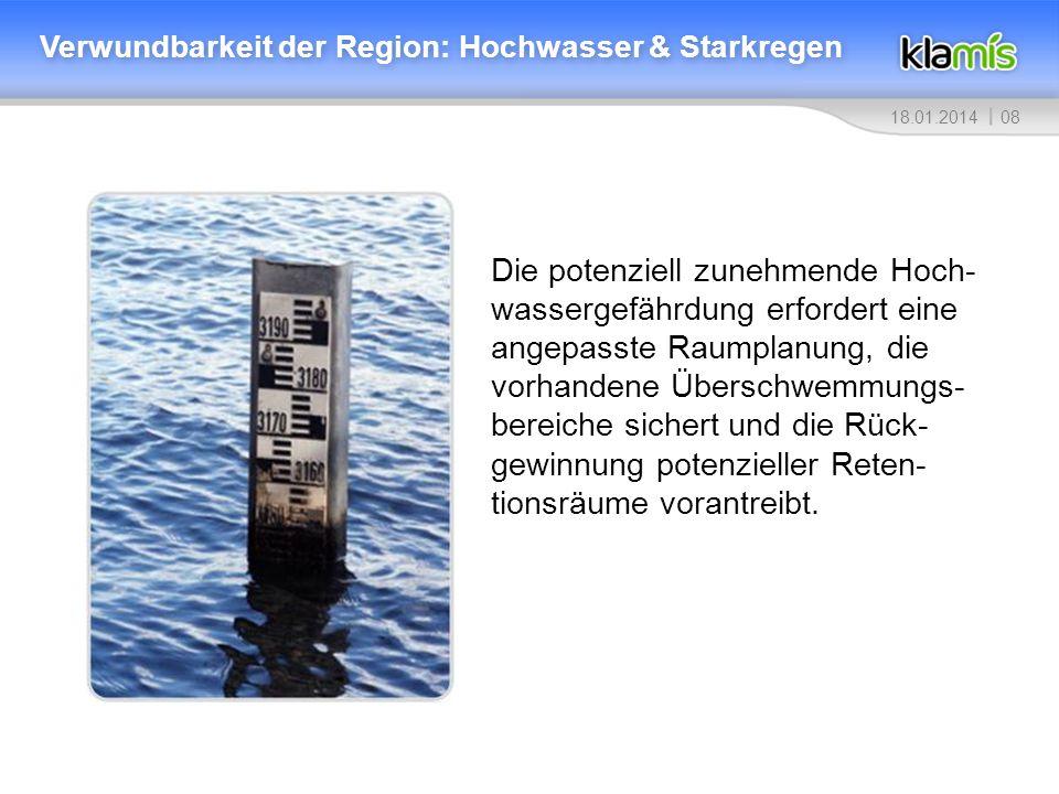 Verwundbarkeit der Region: Hochwasser & Starkregen