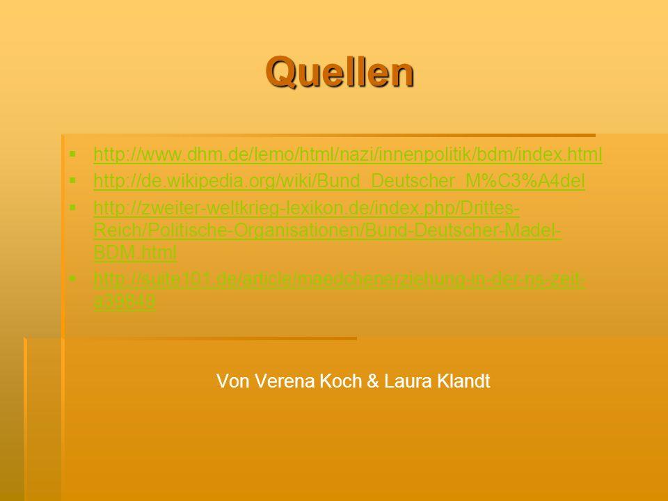 Von Verena Koch & Laura Klandt