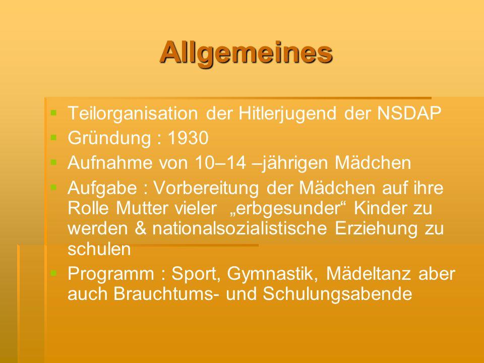 Allgemeines Teilorganisation der Hitlerjugend der NSDAP