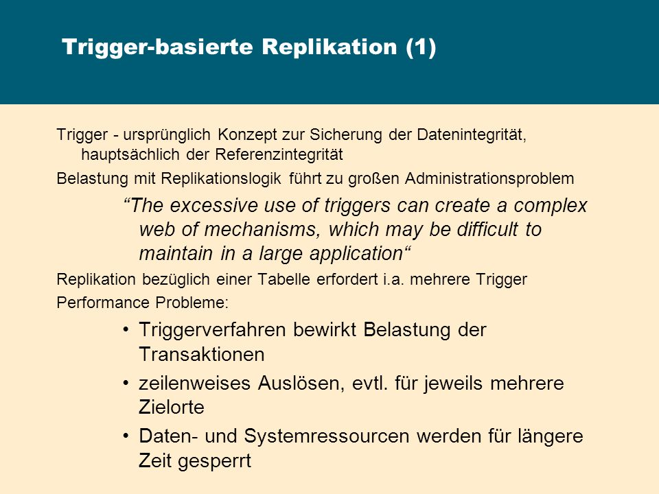 Trigger-basierte Replikation (1)