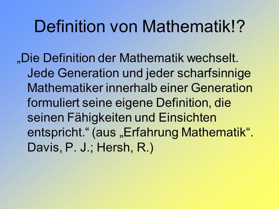 Definition von Mathematik!