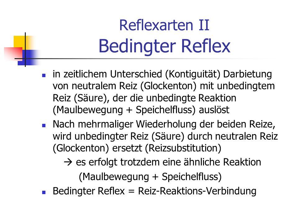 Reflexarten II Bedingter Reflex