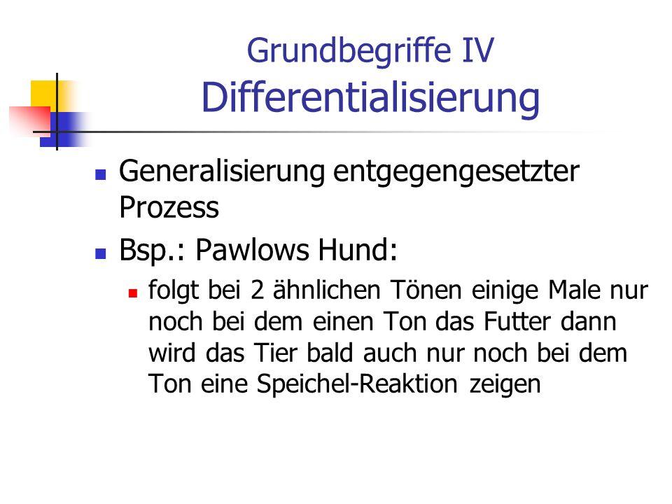 Grundbegriffe IV Differentialisierung