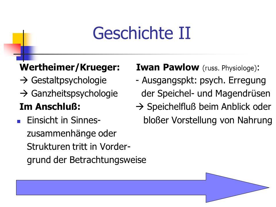 Geschichte II Wertheimer/Krueger: Iwan Pawlow (russ. Physiologe):
