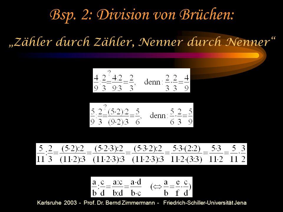 Bsp. 2: Division von Brüchen: