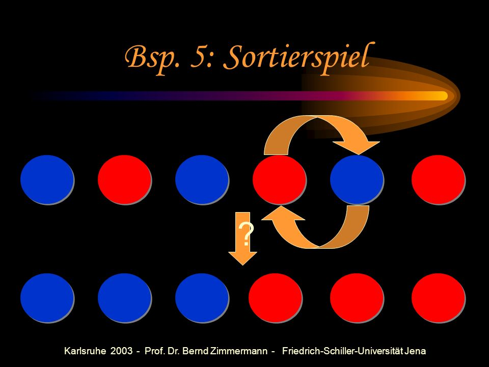 Bsp. 5: Sortierspiel Bubble-Sort: