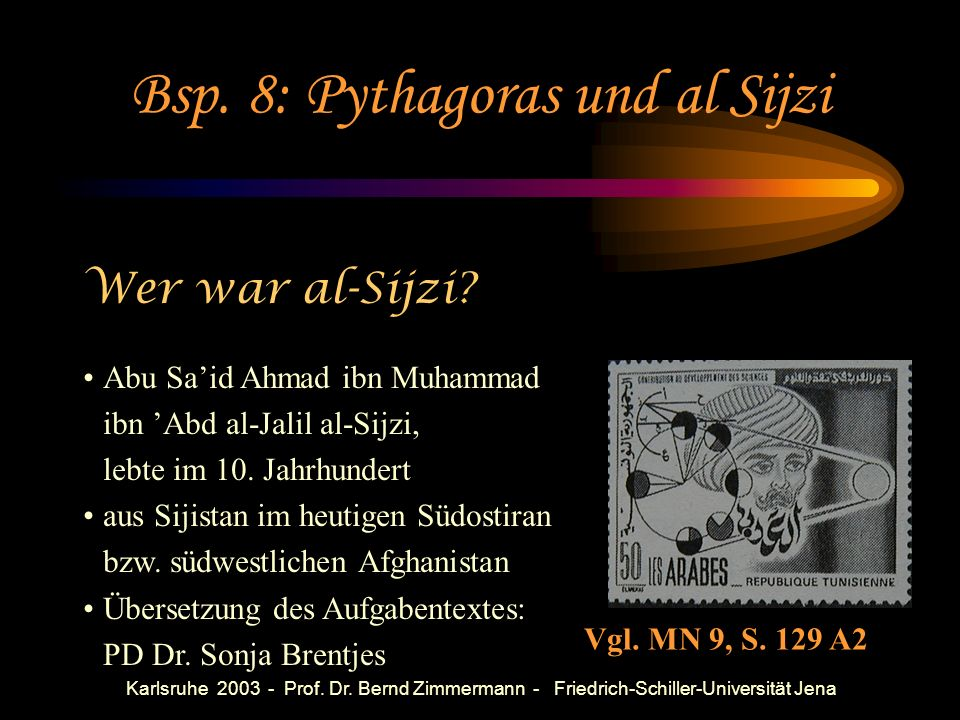 Bsp. 8: Pythagoras und al Sijzi